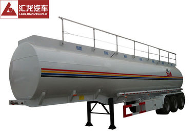 Heavy Oil Fuel Tank Trailer Widely Used To Transport , Tractor Trailer Fuel Tank