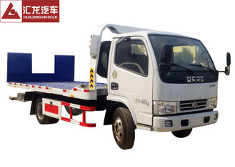 Hydraulic Ramp Roll Off Tow Truck , Dongfeng Car Carrier Tow Truck Diesel Engine